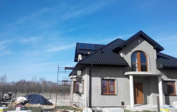 Montaż zestawu solarnego Hewalex 2 SLP 250 —  Jedlińsk