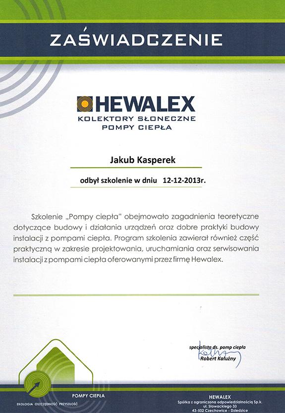 Zaświadczenie od firmy Hewalex