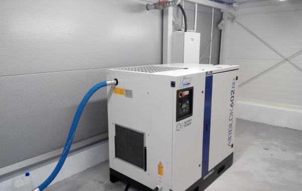 Instalacja sprężonego powietrza do zasilania urządzeń
